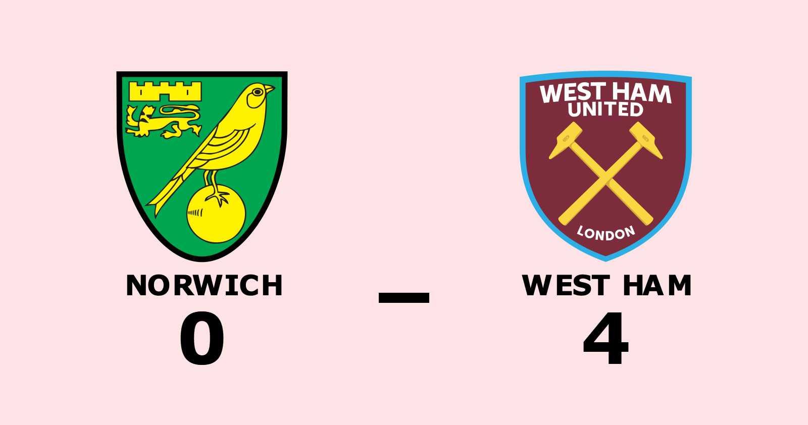 Norwich åker ur efter tung förlust