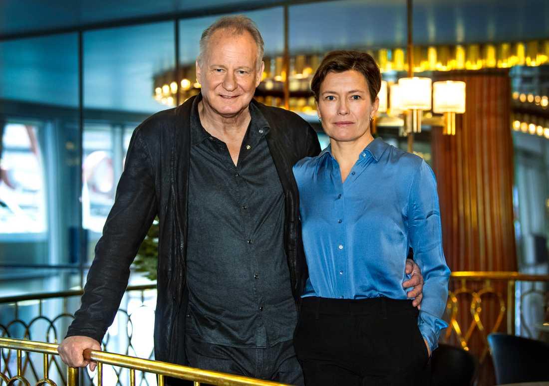 """Skådespelaren Stellan Skarsgård och regissören och manusförfattaren Maria Sødahl är aktuella med filmen """"Leva på hoppet""""."""