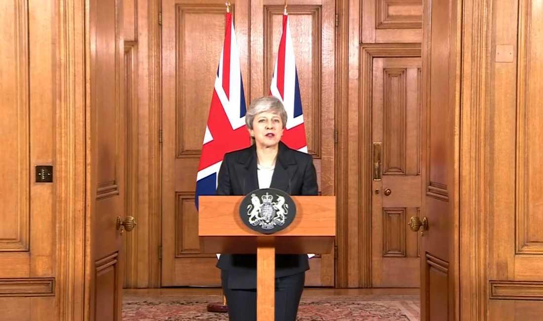 Theresa May, Storbritanniens premiärminister.