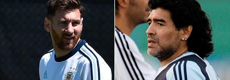 Maradona är inte alls nöjd med Massi.