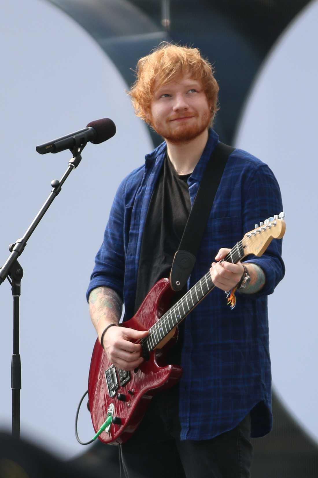 Sheeran säger att han håller sig i form när han är på turné.