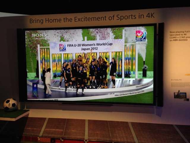 En ultra high definition-skärm från Sony. Med 3840x2160 pixlar har uhd-skärmar fyra gånger så hög upplösning som dagens hd-apparater som klarar standarden 1080p.