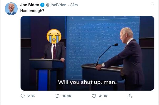 Skärmdump från Joe Bidens Twitter.