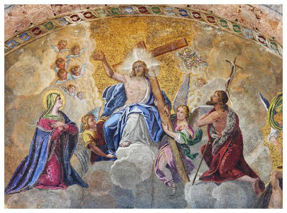 Mosaik från St. Marks Cathedral, Venedig, Italien.