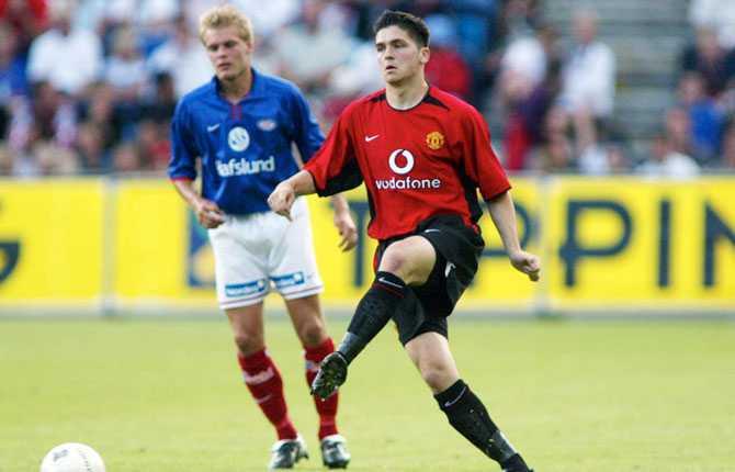 Bojan Djordjic gjorde en match för United i Premier League, som inhoppare borta mot Tottenham i maj 2001. Bilden är dock tagen från ett annat tillfälle.