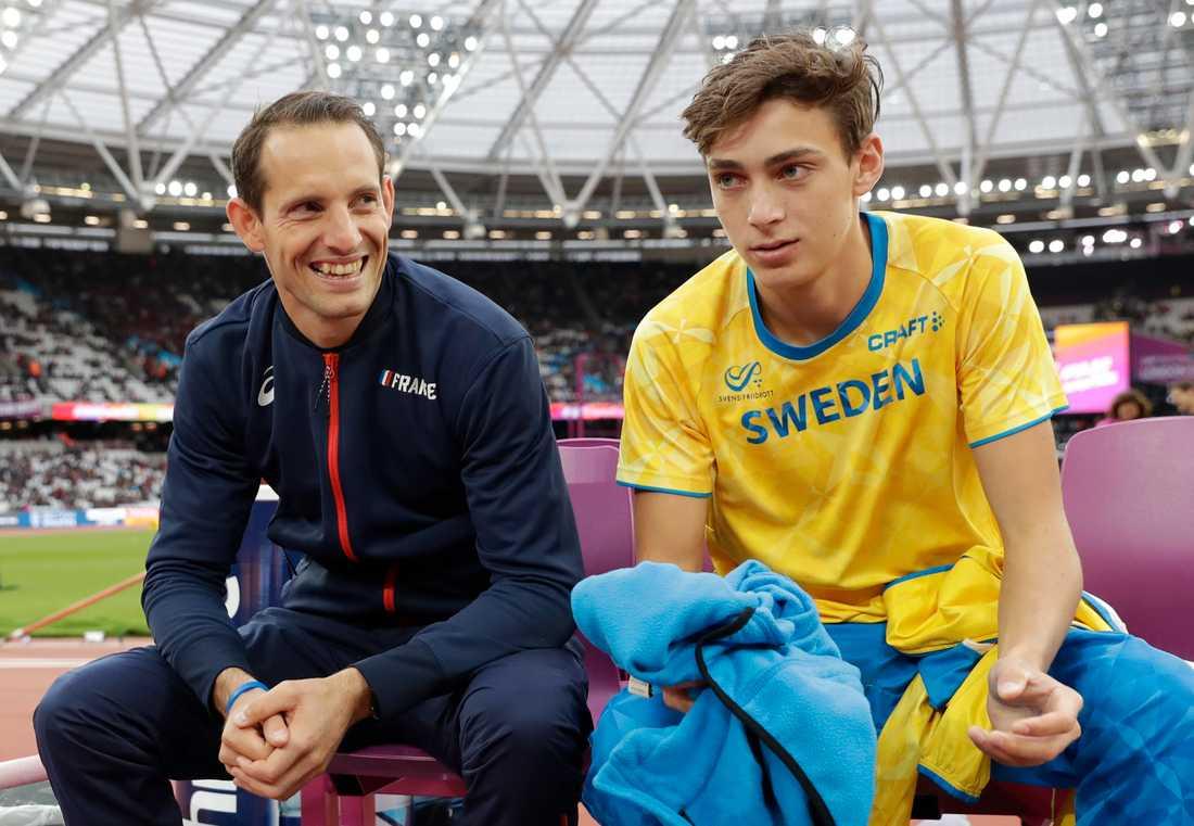 Idolen och beundraren. Men nu vill Armand Duplantis gärna klå sin favorit, på friidrotts-EM i Berlin.