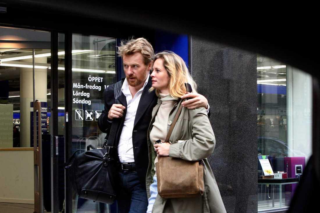 Fredrik Skavlan och Maria Bonnevie har varit tillsammans sedan 2006. Nu har de fått sitt andra barn.