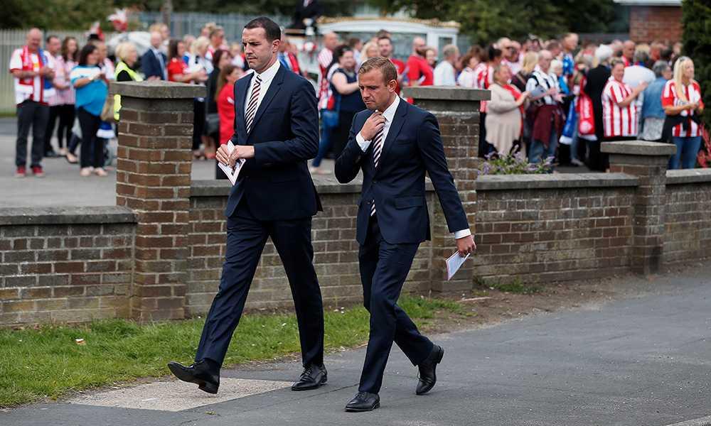 Sunderland-spelarna John O'Shea och Lee Cattermole.