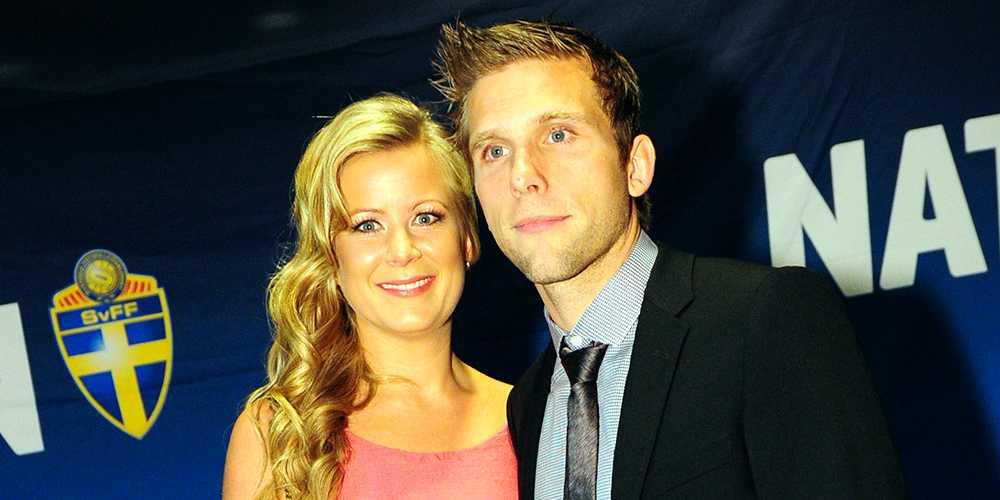 Anders Svensson med frun på Fotbollsgalan 2011.