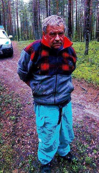 Kari Hekkala precis efter gripandet. Nu har han dömts till 18 års fängelse.