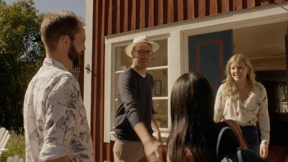 Magnus Nilsson hälsar på Miha Alvesson