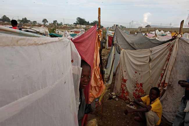 Provisoriska hem Ett av tältlägren i Port-au-Prince där folk som blivit hemlösa i jordbävningen samlats.