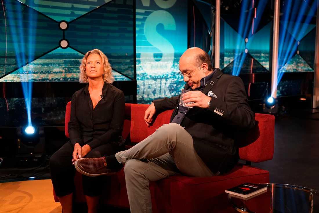 """Margareta Gunsdotter i """"Breaking News"""" på Kanal 5."""