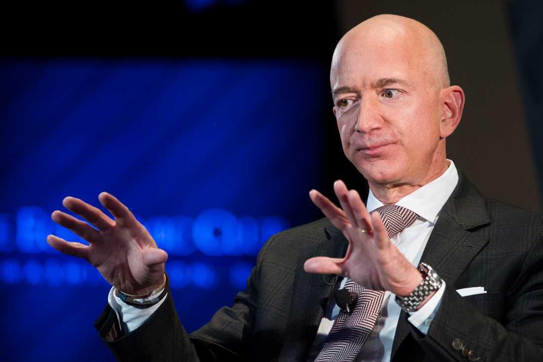 Jeff Bezos, grundare av nätjätten Amazon och rymdentreprenör med företaget Blue Origin.