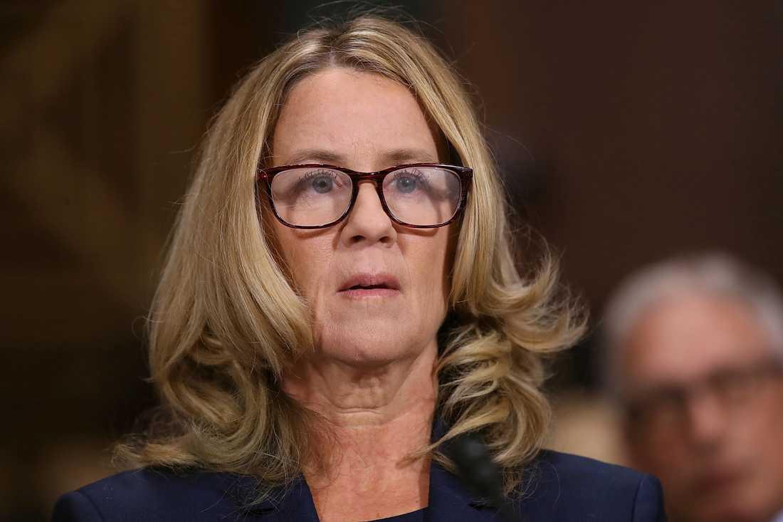 Professor Christine Blasey Ford, som har anklagat den tilltänkte HD-domaren Brett Kavanaugh för sexuella övergrepp.