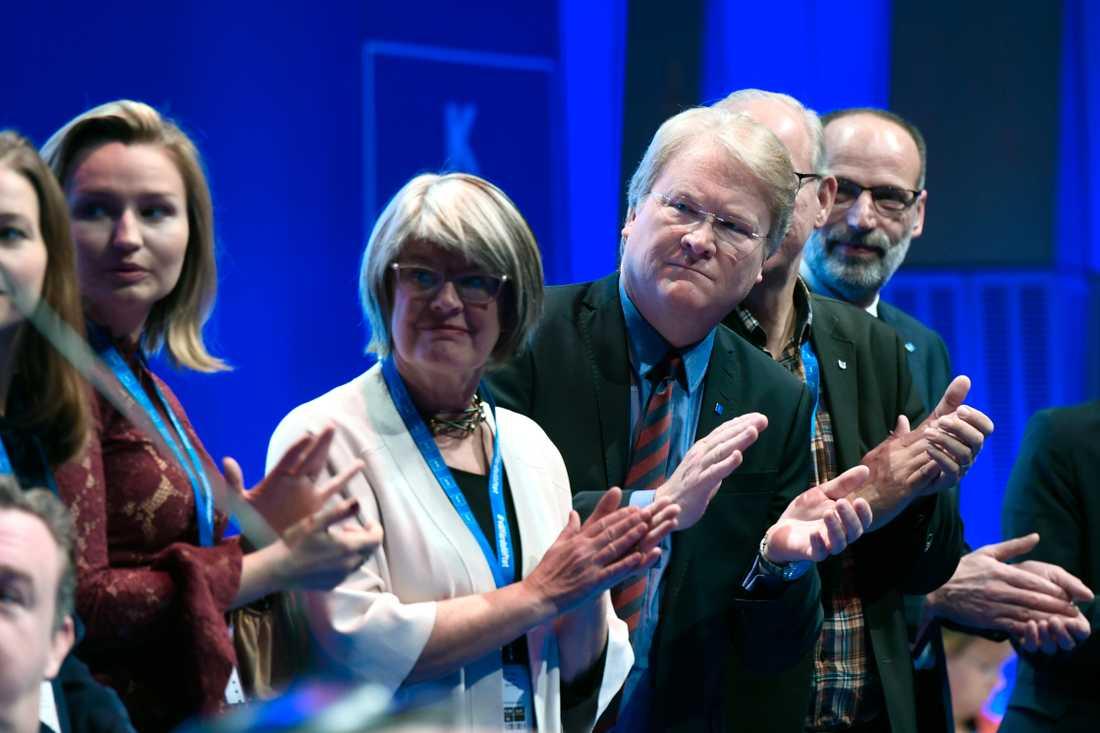 Ebba Busch Thor, Monica Selin Sjuntorp och Lars Adaktusson (KD)