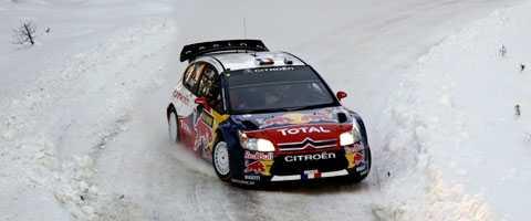Sébastien Loeb leder Svenska rallyt efter fyra sträckor. Fransmannen är fyra sekudner före Mikko Hirvonen.