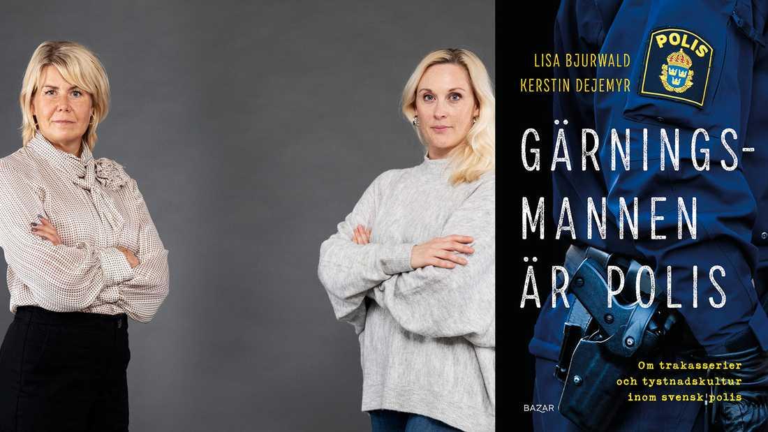 """Kerstin Dejemyr var med och startade polisens Metoo-upprop #Nödvärn. Tillsammans med den undersökande journalisten och författaren Lisa Bjurwald har hon samlat vittnesmål om brott från polisstationer runt om i landet, vilket resulterat i boken """"Gärningsmannen är polis""""."""