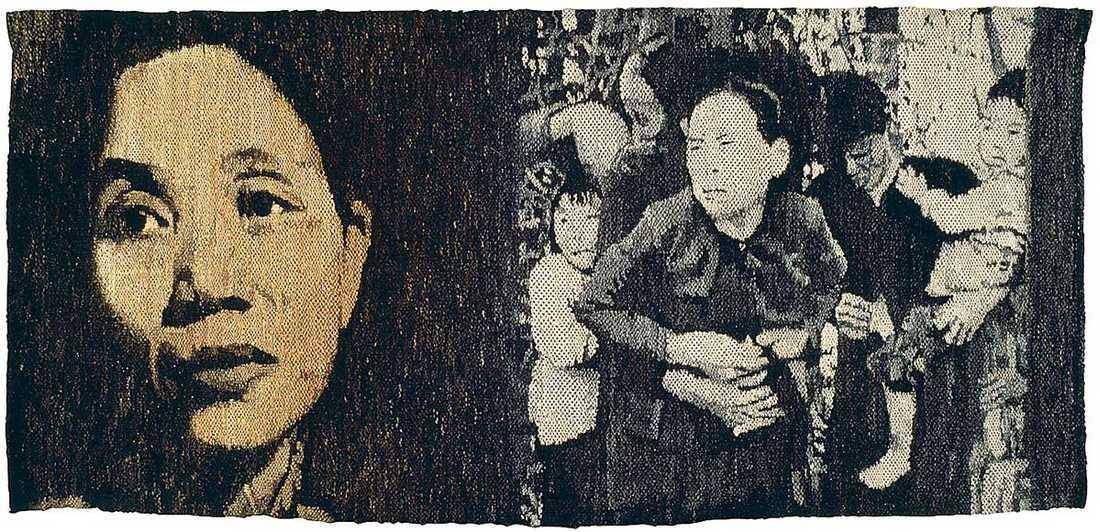 """Maria Adlercreutz """"I hennes ögon bevaras folkets ljus"""", 1968-1971, väv."""