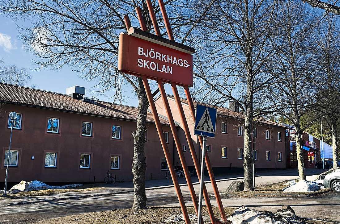 Tommy Johanssons arbetsplats, Björkhagsskolan.