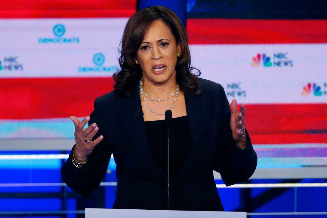Den demokratiska presidentaspiranten och Kaliforniensenatorn Kamala Harris under partiets debatt.