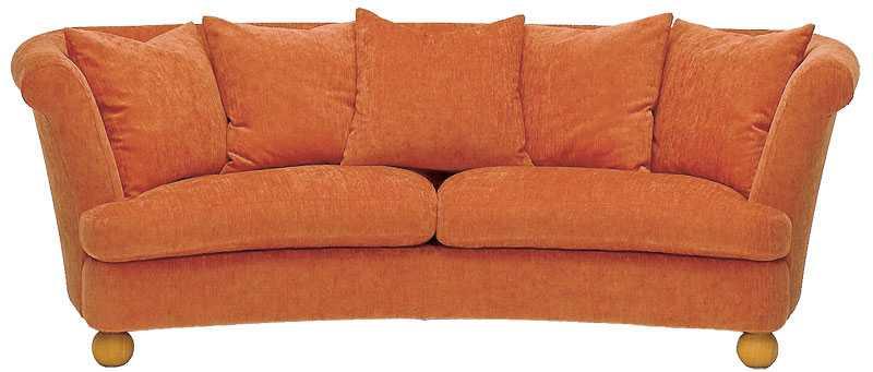 """En riktig kompis-soffa med rätt rundning i ryggen. """"Matilda"""", Mio, 21900 kr."""