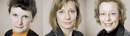 Marcella Simms, Katarina Dahlbäck och Eva Blomquist - huvuden som rullat på Sveriges Radio.