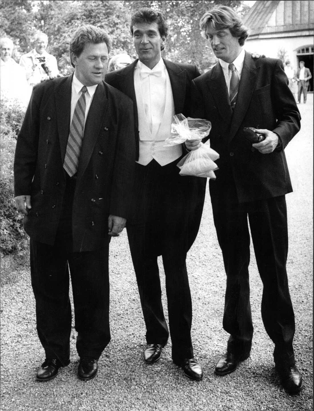 Tommy Körberg, Kjell Bergqvist och Johannes Brost,1989