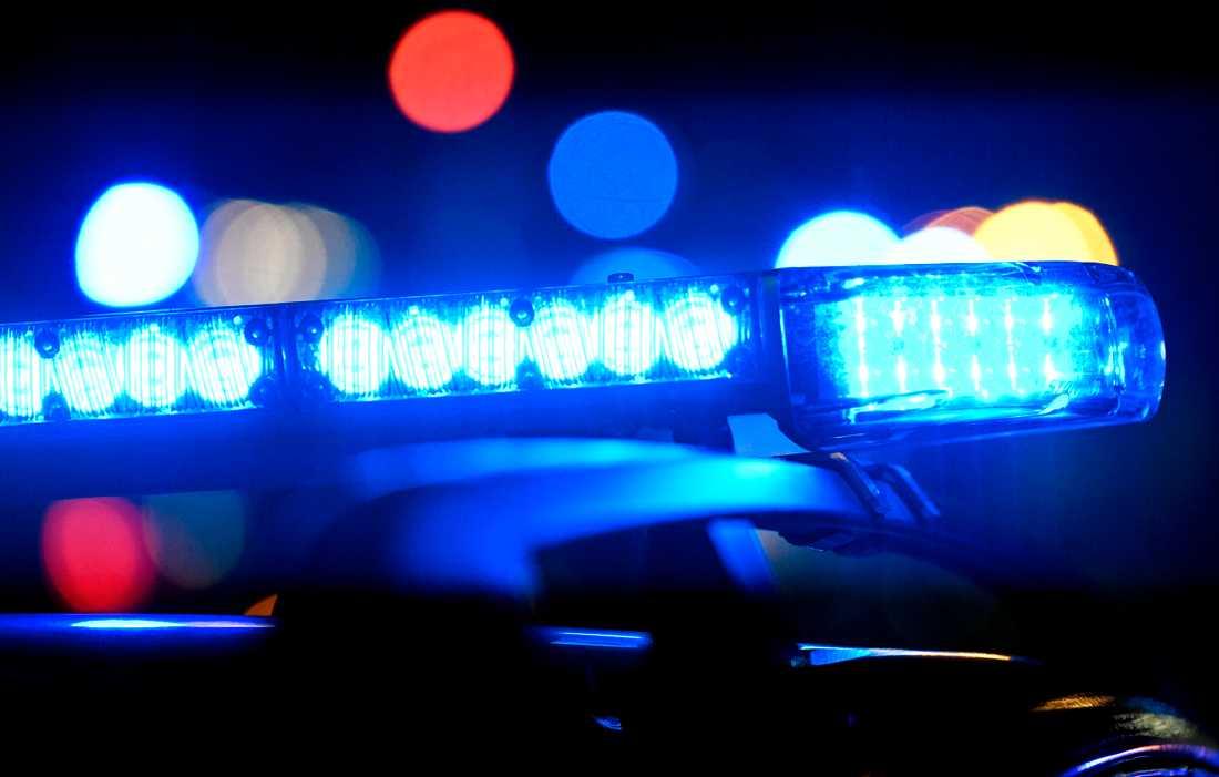 Polisen larmades till radhusområdet i Nacka på torsdagskvällen. Arkivbild.