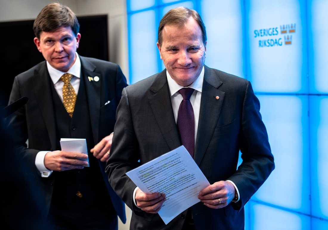 Januariavtalet innebar att Stefan Löfven kunde nomineras till – och bli – statsminister.