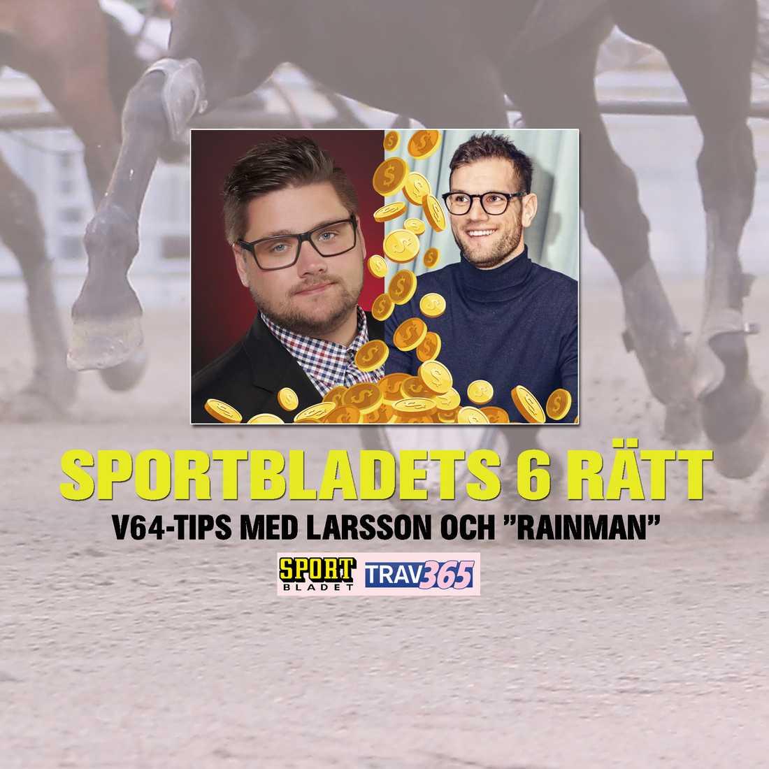"""""""Sportbladets 6 rätt"""" med Nils Larsson och Joakim """"Rainman"""" Rosenhed."""