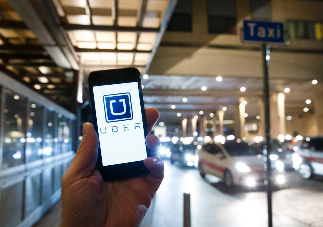 Transporttjänsten Uber –kanske det mest kända exemplet från delningsekonomin. Arkivbild.