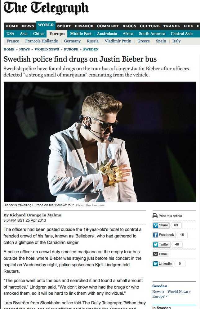 Brittiska, anrika, The Telegraph plockade upp Aftonbladets avslöjande.