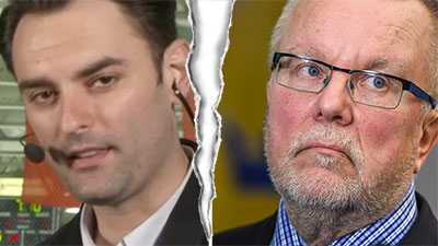 SVT:s reporter Dusan Umicevic och Leif Boork.