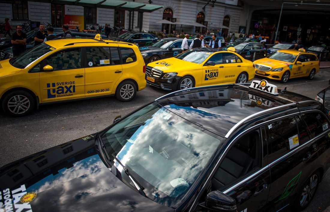 Taxibranschen är hårt drabbad i den pågående coronakrisen. Arkivbild.