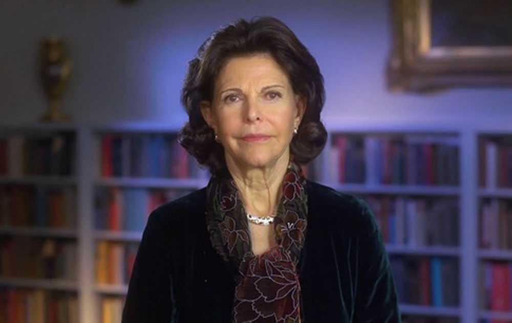 Drottning Silvia i videon.