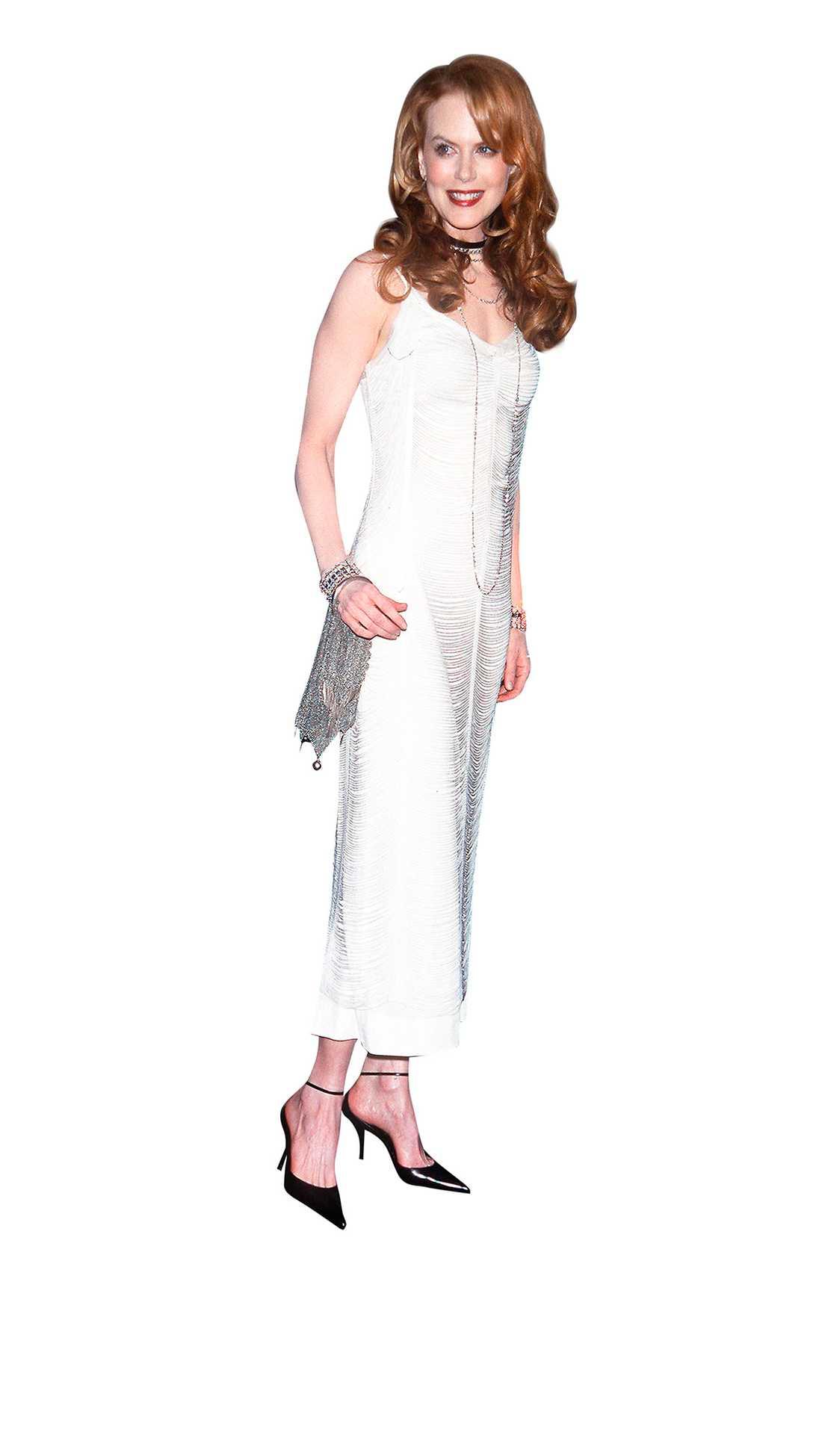 Nicole Kidman i en Decades-klänning på premiären av Moulin Rouge 2001.