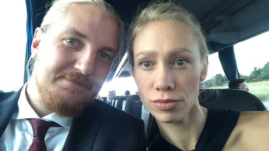 Max Kjellvander och Helene Johansson var på plats och var de första att reagera på att Qhasem var nära att drunkna.