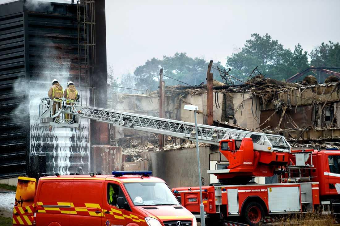 Sverige har den största andelen anlagda skolbränder i världen. Ett exempel är Torslandaskolan på Hisingen i Göteborg som förstördes i en brand. (Arkivbild).