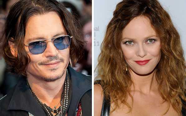 Johnny Depp, 49, och Vanessa Paradis, 39. Träffades 1998 och har två barn tillsammans.