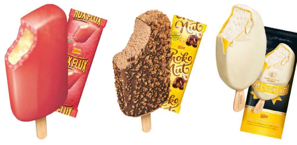 Hux flux, Choko nut, Farbror Arnes vit choklad