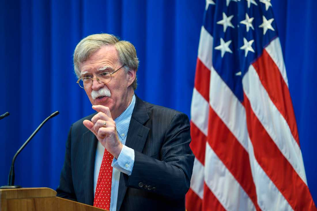 President Donald Trumps nationelle säkerhetsrådgivare John Bolton. Arkivbild.
