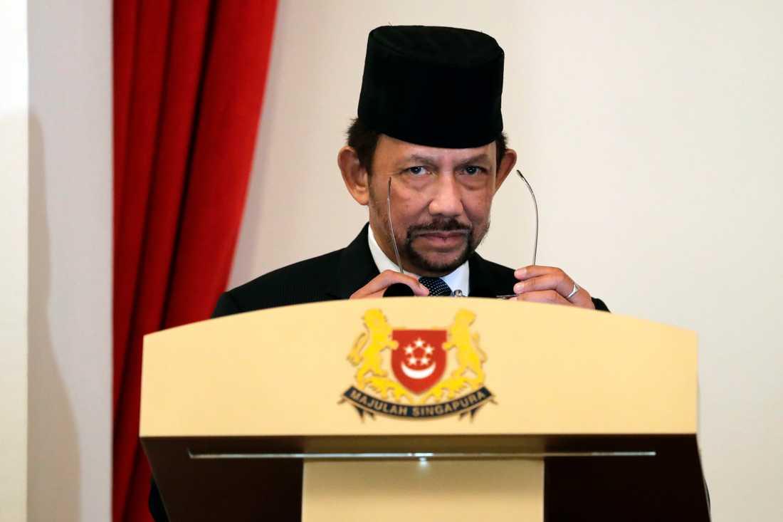 Bruneis envåldshärskare Hassanal Bolkiah. Arkivbild.
