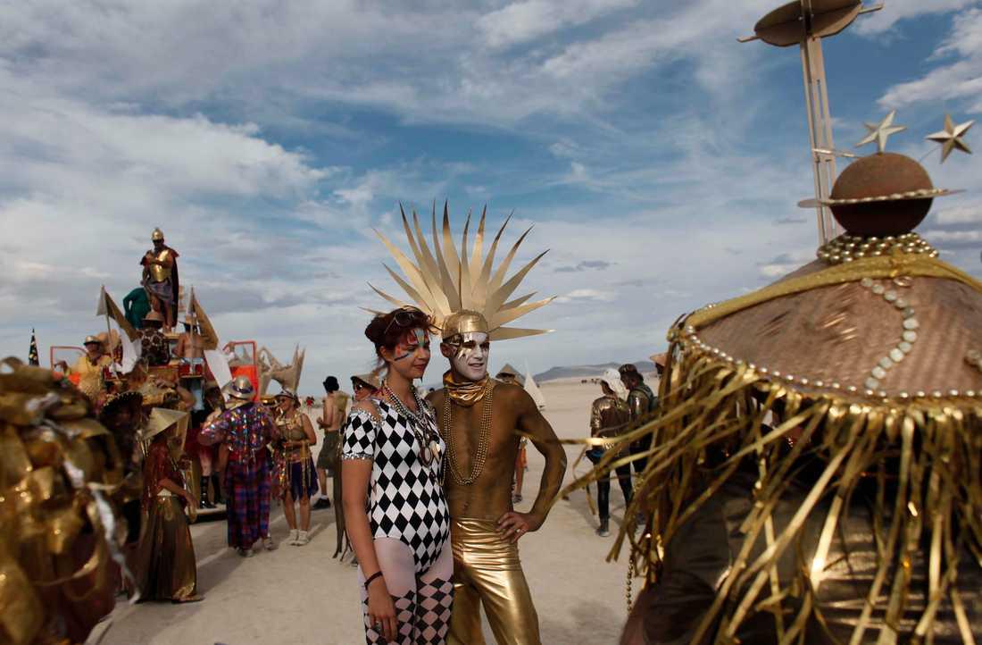 Burning Man kommer att äga rum på nätet i år. Arkivbild.