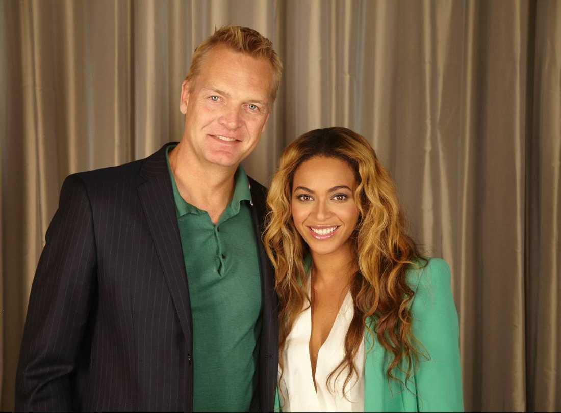 ff68c4c881b6 Nöjesbladets Hollywoodreporter Magnus Sundholm fick som det enda svenska  media träffa Beyoncé inför hennes konsert i
