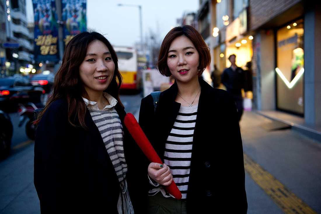 Pookyeong Lee, 24 och Hyoeun Joo, 22.