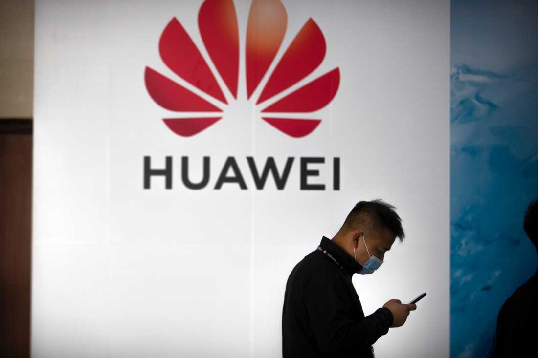 Post- och telestyrelsen (PTS) förbjuder produkter från kinesiska Huawei och ZTE i svenska 5G-nät, på rekommendation av Försvarsmakten och Säkerhetspolisen. Arkivbild.