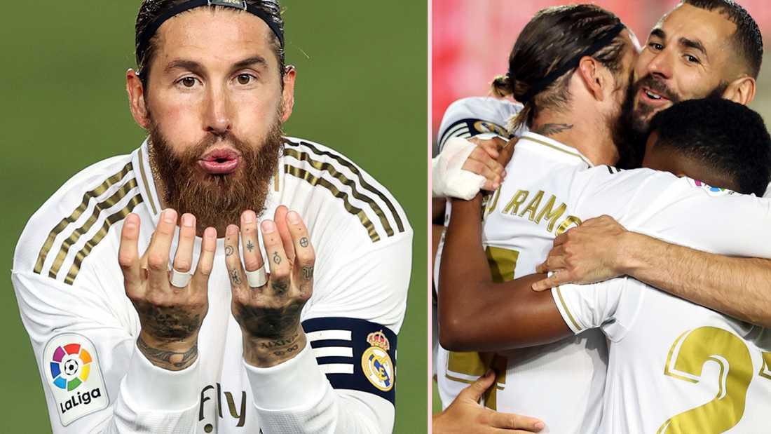 Sergio Ramos firar sitt straffmål mot Getafe, matchens enda mål.