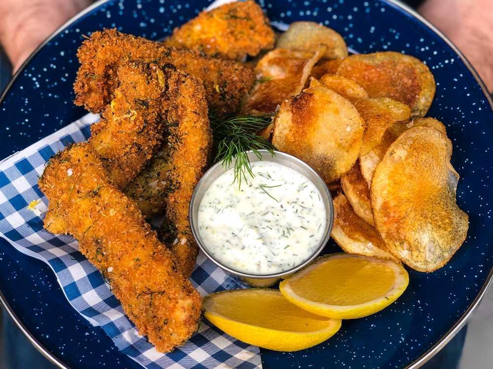 Panerad kyckling med parmesan och senap