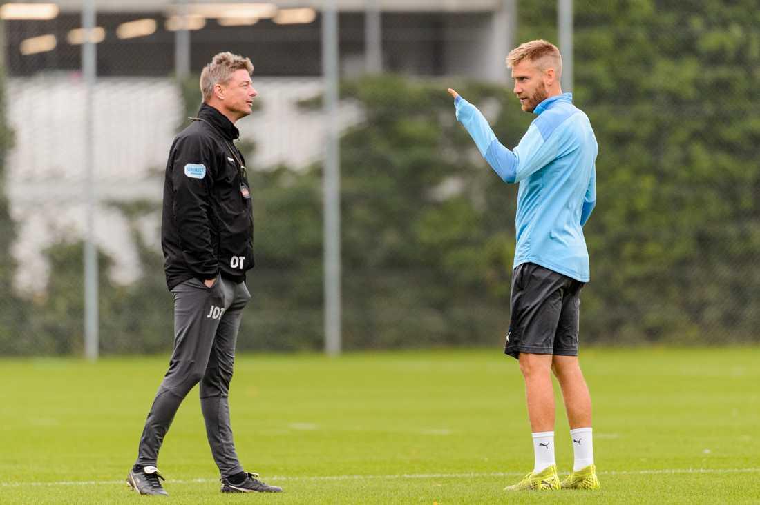 Jon Dahl Tomasson och Rasmus Bengtsson.